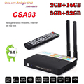 3 GB 32 GB Amlogic CSA93 S912 Cortex-A53 Octa Core 2 GB 16 GB Android6.0 TV Box WiFi H.265 BT4.0 4 K 1000 M Inteligente Meida Jugador mini pc