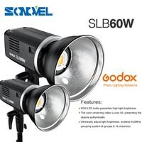 2pcs Godox 5600K SLB60W 60W White Camera Camcorder Studio Outdoors Portable LED Light Using Lithium Battery (Bowens Mount)