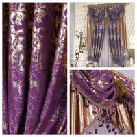 flower quality the blind Purple luxury classical classic rustic balcony print shade cloth curtain customize Blinds the tulle