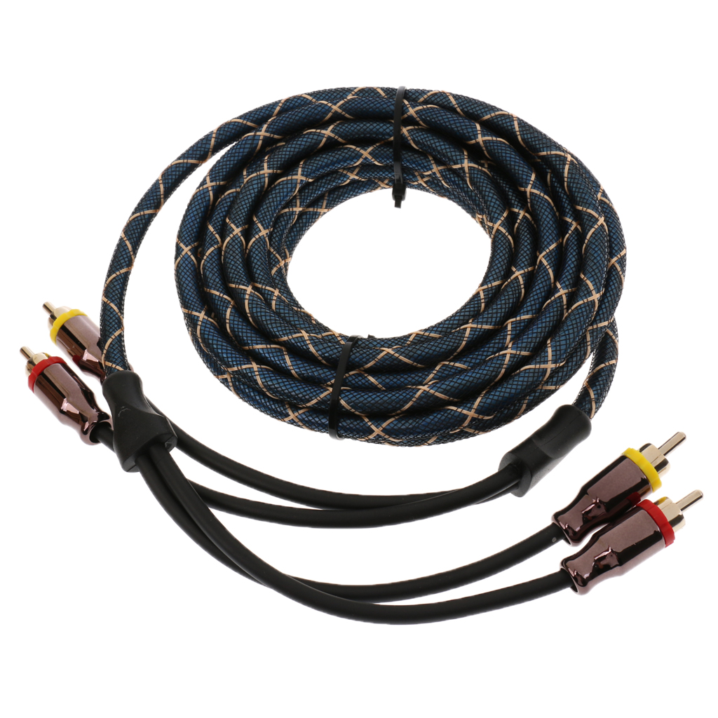4.5m Car Audio Stereo Amplifier Speaker RCA Interconnect Cable Wire Plug