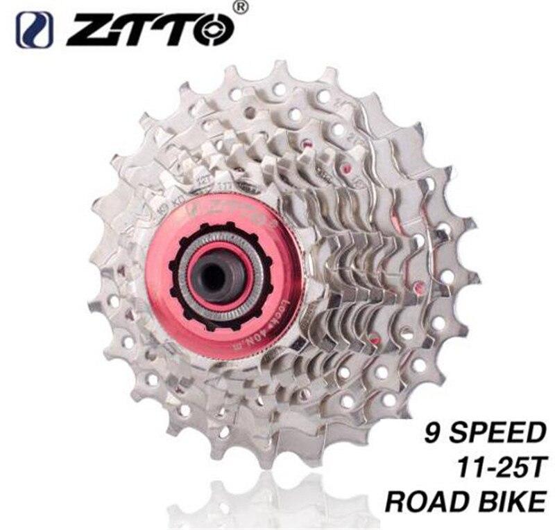 Ztto bicicleta de estrada peças 9 s 18 s 27 s velocidade roda livre cassete roda dentada 11-25 t 25 t compatível para peças sora 3300 3500 r3000