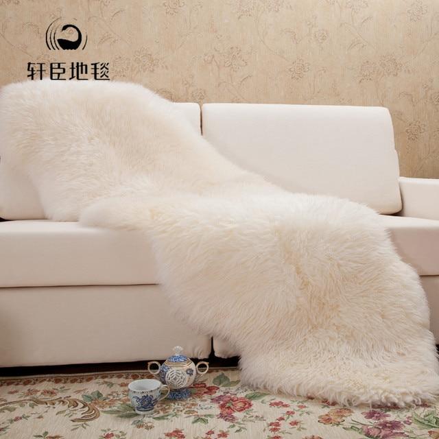 Schaffell Wolle Decke Sofa Teppich Couchtisch Dekoration Teppich In