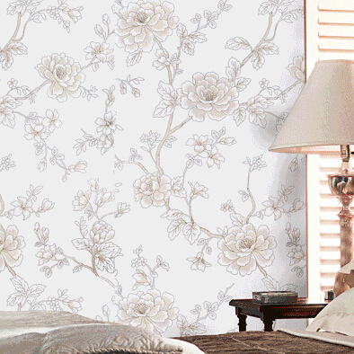 Red Grey Yellow Floral Wallpaper Vinyl Flower Living Room Bedroom Background Wall Pvc Textured Feature Paper In Wallpapers From Home