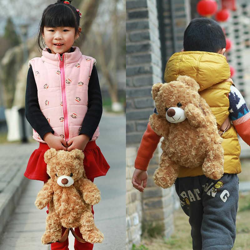 36CM Ursinho de Pelúcia Presentes de Natal para o Berçário Bonito Crianças Schoolbag Mochila para Crianças mochila de pelúcia hasp sacos de bebê brinquedos