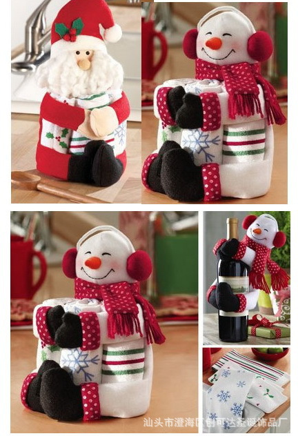 Cubierta de la Botella de Vino rojo Bolsas Abrazo Navidad Papá Noel ...