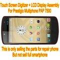 Nova Prestigio Multiphone PAP 7500 Duo tela Touch Panel digitador Sensor de vidro + Display LCD Matrix peças de montagem