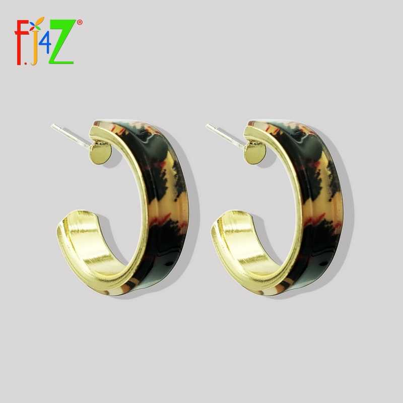 F. J4Z Горячие открытые серьги кольца женские винтажные барочные текстурированные