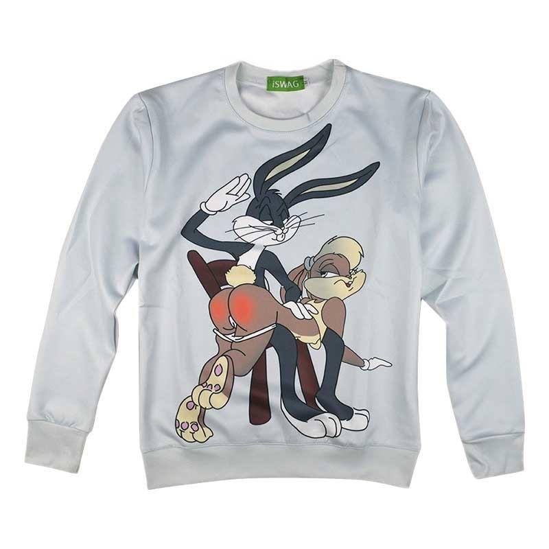 Fashion 3D Cartoon Warners Brothers trickster rabbit Sweatshirts Women Men Budz Bunny Sweatshirts Bugs Bunny Sweats Pullover