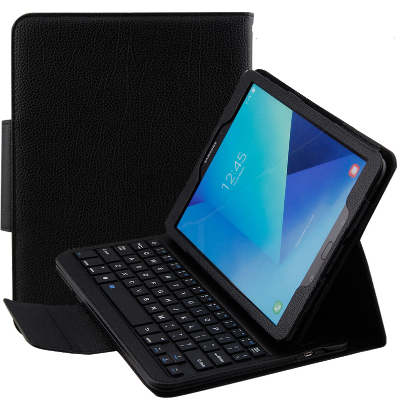 For Samsung GALAXY Tab E 9.6 T560 T561 Removable Wireless Bluetooth Keyboard Portfolio Folio PU Leather Case Cover + Gift