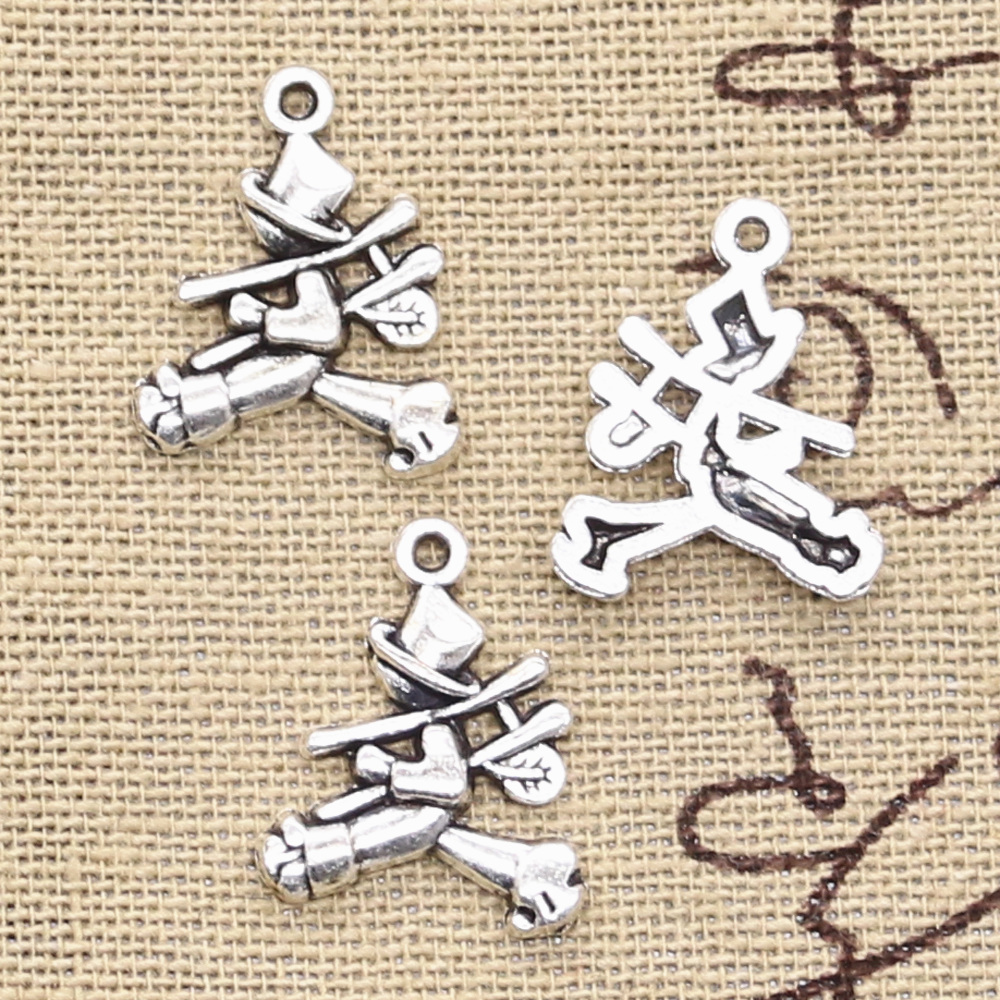 Free Ship 50 pieces tibetan silver boy charms 29x15mm #544