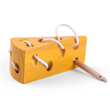 Cute Educational Cheese Shaped Wooden Montessori Toy