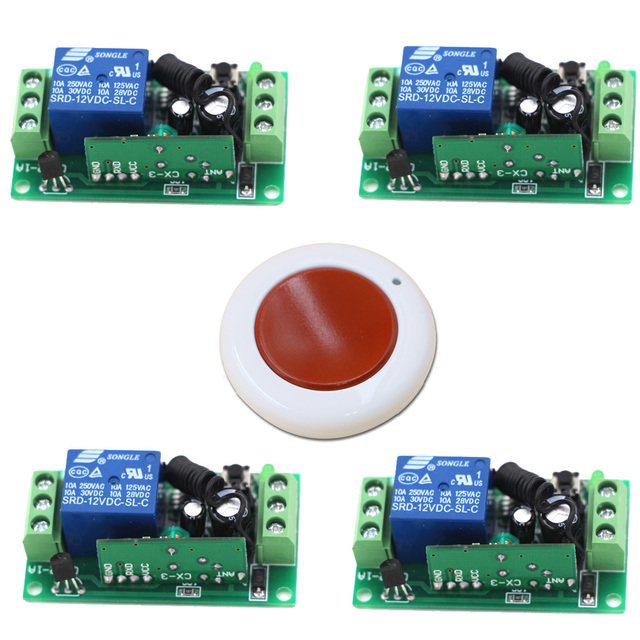 New Product 1CH Wireless Remote Control Switch System Smart Home Controller with Remote Control 315/433mhz Top Quality