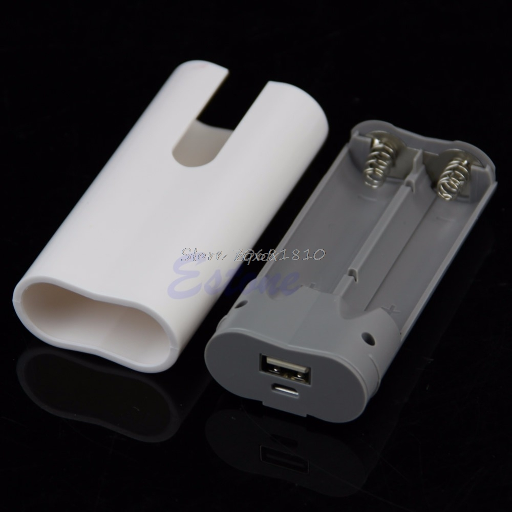 2x 18650 USB Mobile Power Bank Battery Charger Box Case DIY Kit For MP3 iPhone Z17 Drop Ship usb 5v 2a mobile phone power bank charger pcb board module for 18650 battery z17 drop ship