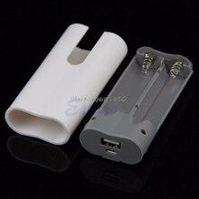 2x18650 USB Caricatore Mobile Della Banca di Potere Della Cassa Della Scatola Kit FAI DA TE Per MP3 iPhone Whosale & Dropship