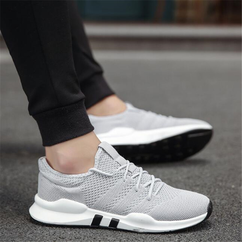 7cc49feda2b9 LAIDILANGTU new men's flying woven mesh shoes small black shoes breathable  casual fashion men's shoes Superstar Sneakers shoes