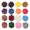 1 Caja Profesional 16 Color Mezclado Brillo Sombra de Ojos En Polvo Sombra de Ojos A Prueba de agua Cosméticos Maquillaje Herramienta de BRICOLAJE #231319