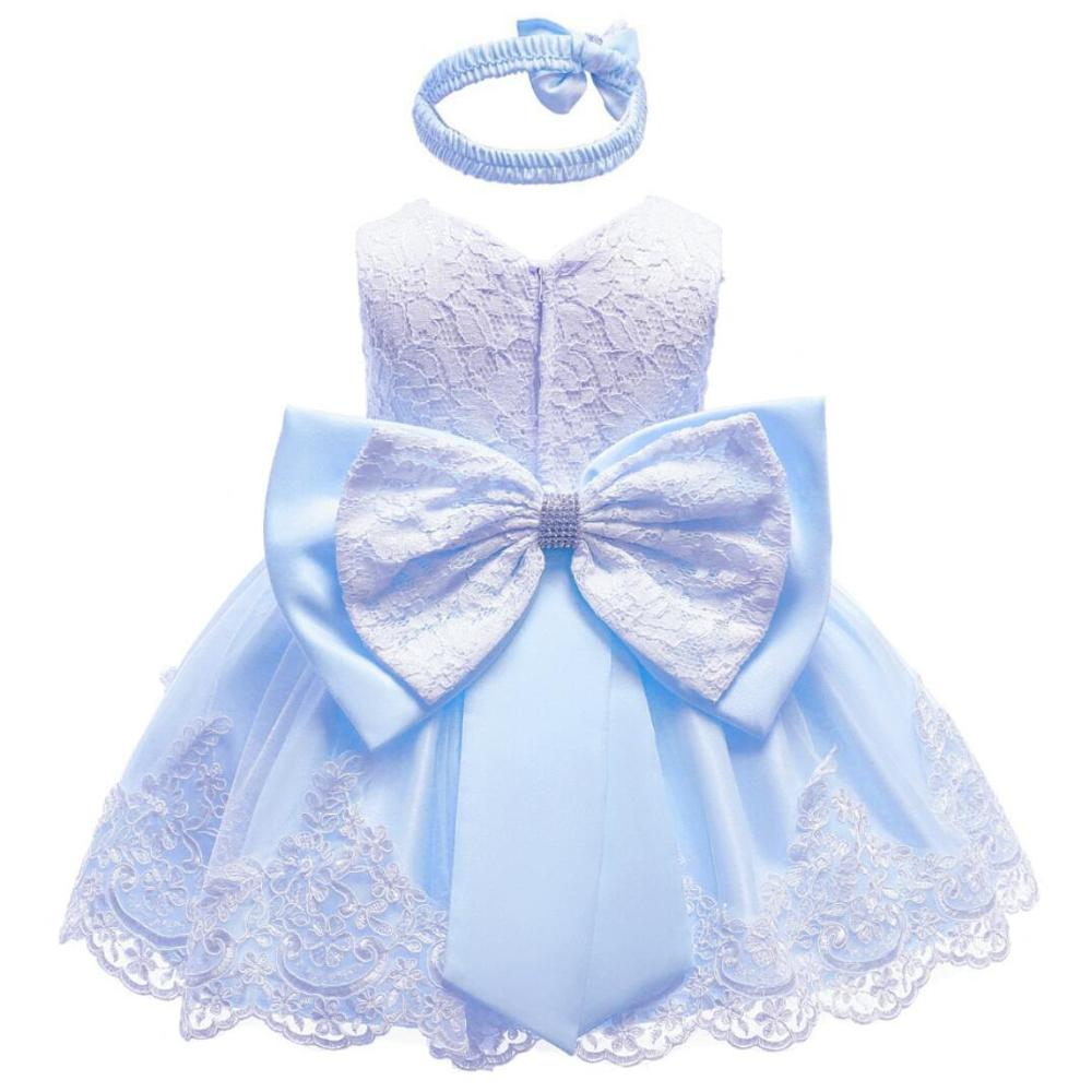 608a75da2d42a 2019 Baby Girls Dress Big Bowknot Infant Party Dress For Toddler Girl First  Brithday Baptism Clothes Double Formal Tutu Dresses-in Dresses from Mother  ...