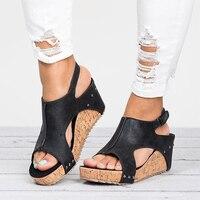 Women Sandals 2018 Wedges Shoes Women High Heels Sandals With Platform Shoes Female Wedge Heels Peep
