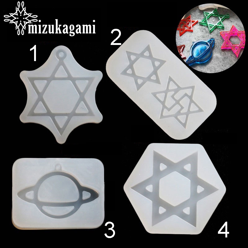 1pcs UV Resin Jewelry Liquid Silicone Mold Stars&Universe Planet Resin Molds For DIY Necklace Pendant Charms Making Jewelry