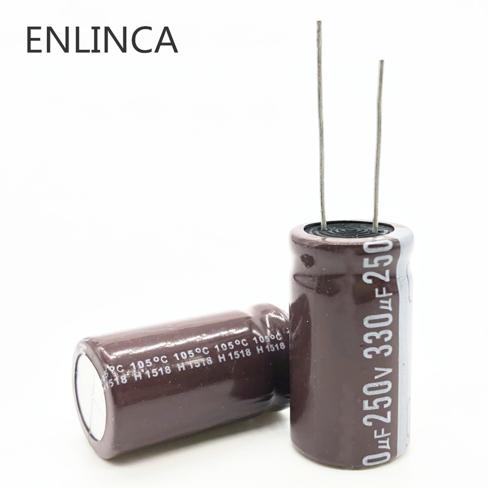 2pcs/lot T27 High Frequency Low Impedance 250v  330UF Aluminum Electrolytic Capacitor Size 18*35 330UF 20%