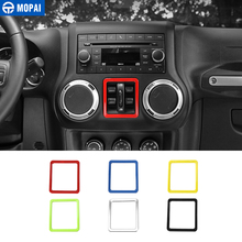 MOPAI ABS Car Interior Window Switch Button Decoration Frame Cover Sticker for Jeep Wrangler JK 2011 Up Car Accessories Styling