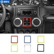 MOPAI ABS автомобиль Внутреннее окно кнопка включения украшения рамки крышка стикеры для Jeep Wrangler JK 2011 до автомобильные аксессуары укладки