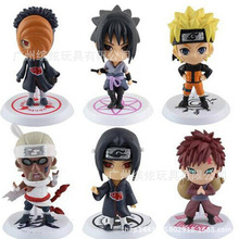 цена 6pcs/set  Anime Naruto Figure Toy Sasuke Kakashi Sakura Gaara Itachi Obito Madara Killer Bee Model Doll Naruto Action Figure mod онлайн в 2017 году