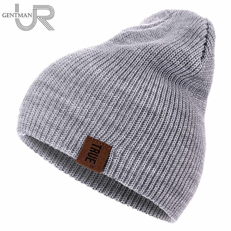 1 Pcs Hoed Pu Brief True Casual Mutsen Voor Mannen Vrouwen Warm Gebreide Winter Hoed Mode Effen Hiphop Beanie Hoed unisex Cap