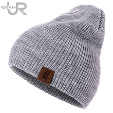 1 Pcs Hat PU Letter True Casual Beanies for Men Women Warm Knitted Winter Hat Fa