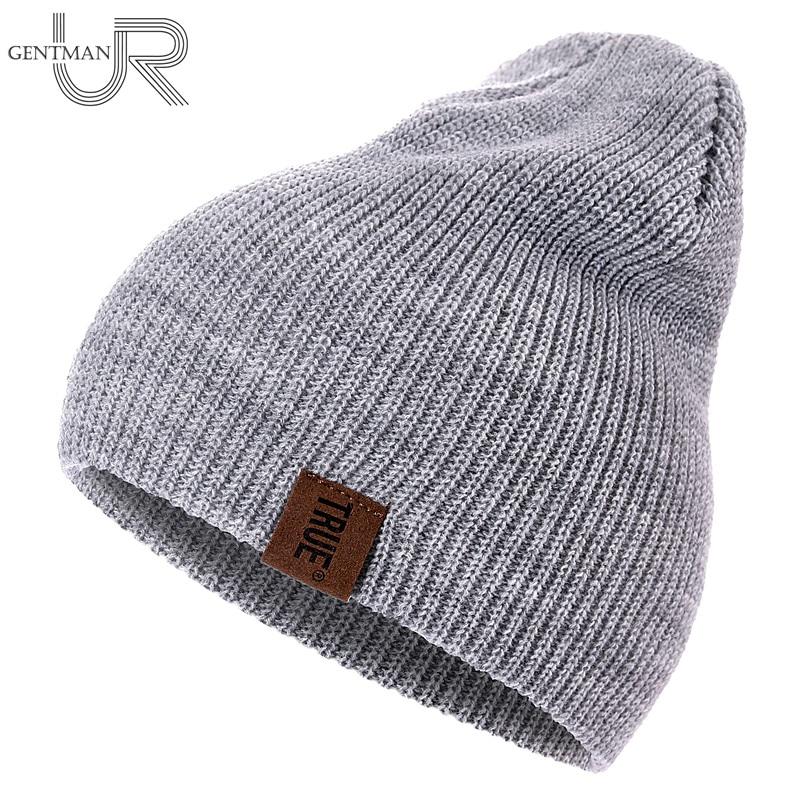 1 шт шапка пу True бирка повседневное шапка женская мужская теплая вязаная зимняя шапка модные однотонные шапка бини