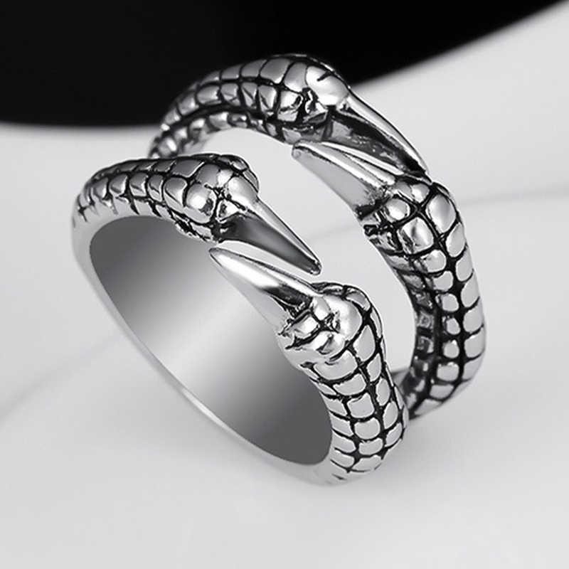 Unisex ผู้หญิงผู้ชาย Eagle Claw โกธิคไทเทเนียมสแตนเลส Punk BIKER แหวน