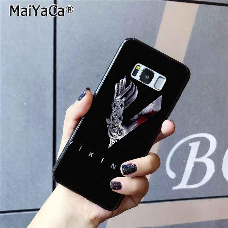 MaiYaCa Ragnar Lothbrok vikingos serie caja del teléfono para Samsung Galaxy S9 plus S7 borde S6 S10Plus S10lite S10E S8 plus