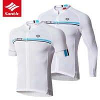 Camiseta de Ciclismo Santic para hombre Pro equipo MTB bicicleta de carretera Jersey de verano transpirable Anti-sudor ropa de Ciclismo Maillot Ciclismo