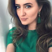 Dvacaman Brand 2017 Bohemian Colorful Tassel Earrings Women Hot Ethnic Drop Earrings Za Statement Jewelry Wholesale Factory J51