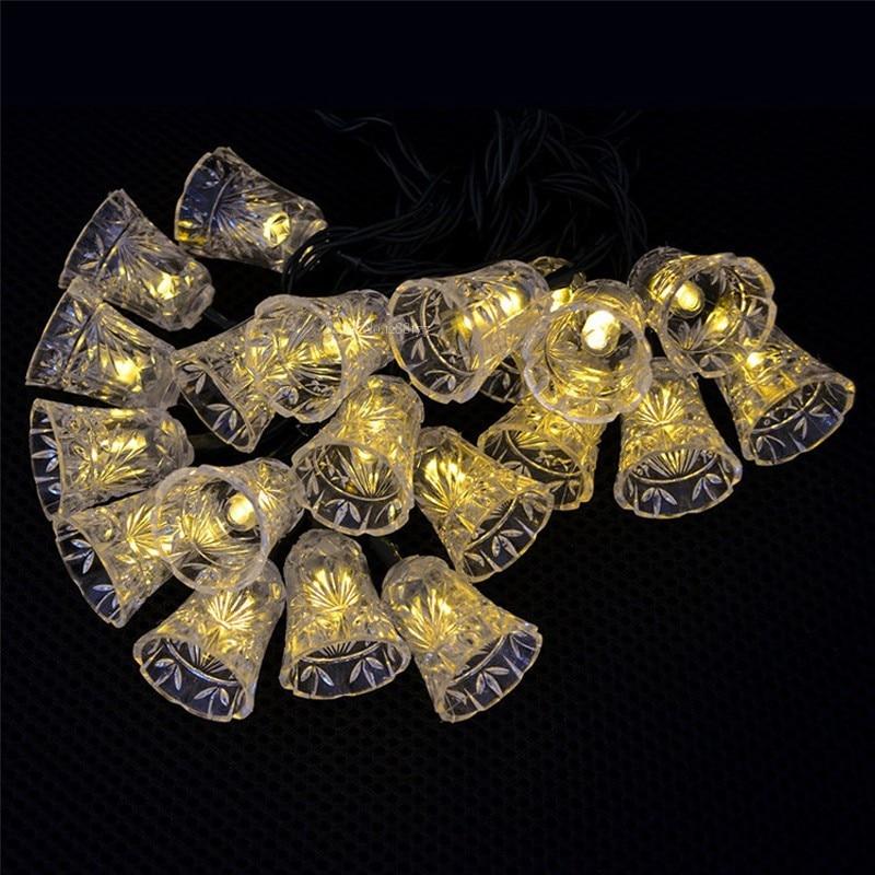 8M 50 LED petite cloche chaîne lumière décoration de fête de - Éclairage festif - Photo 2