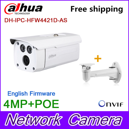 Wholesale Original Dahua 4MP bullet Camera IPC-HFW4421D-AS Full HD IP CCTV Network Audio monitoring Web POE DH-IPC-HFW4421D-AS original dahua 4mp ipc hdbw4421r as ip network camera support poe