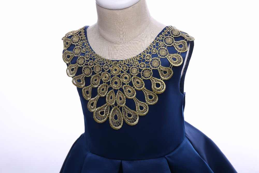 7eee48bd0191a Detail Feedback Questions about Elegant Gold Embroidery Girl Dress ...