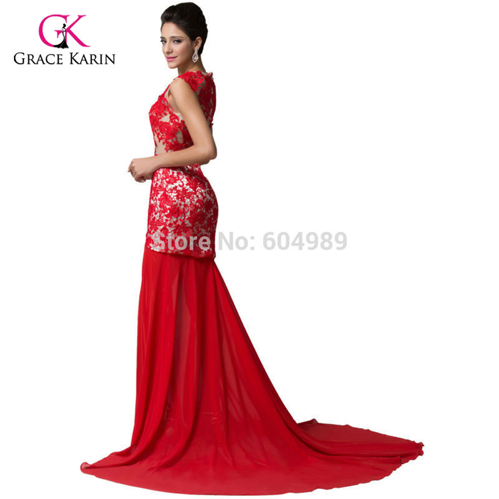 2861880d89 Amazing Slit Design Red Lace Applique Mermaid Prom Dresses Women Long  Evening Formal Gowns Masquerade Dress vestido longo 6120-in Prom Dresses  from Weddings ...