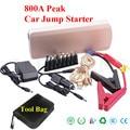 12V Petrol Diesel Car 18000mAh Jump Starter 800A Peak Fast Starting Car Engine Mini 2USB 2 Laptops Output Power Bank SOS Lights