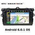 SMARTECH Автомобиля dvd-плеер gps-навигация 2 din Android 6.0.1 Quad Core 8 дюймов экран автомобиля стерео радио головное устройство для TOYOTA COROLLA
