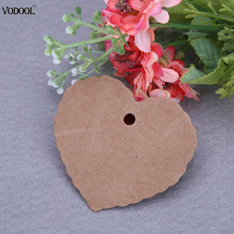 100pcs Kraft Paper Gift Tags Label Pendant Luggage Wedding Blank Strings Luggage DIY Christmas Tree Blank Price Tag