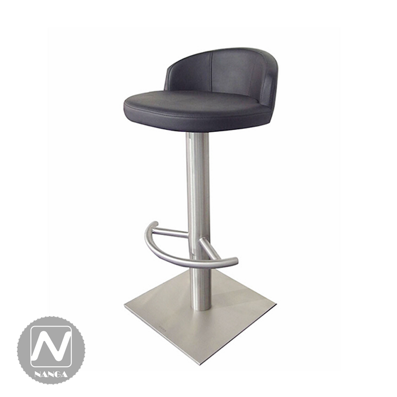 Simple Small Apartment Furniture Reception Brushed Stainless Steel Lift Stool Red Pu Leather Desk Chair Bar In Chairs From On Aliexpress