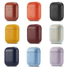 Funda de lujo para auriculares Apple Airpods 2, Funda de cuero PU para auriculares Bluetooth, accesorios para Airpods