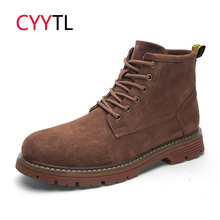 Cyytl модные Для мужчин otocycle сапоги зимние теплые, с волнообразным краем; Zapatos de Hombre Мужская Рабочая обувь ботинки martin тактические военные, милитари кроссовки
