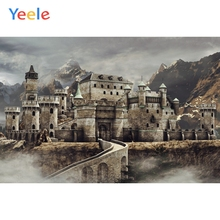 Yeele Retro Buildings Backdrops Old Castle On Foggy Photocall Photography Background Photographic Backdrop For Photo Studio