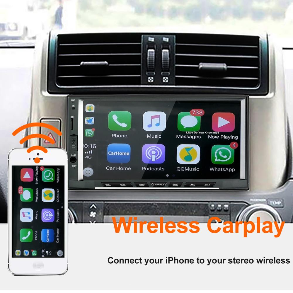 Image 2 - 2019 Wireless Car radio Apple CarPlay & Android Auto link USB DONGLE with Touch Screen Control for Android Navigation DVD System-in Car Radios from Automobiles & Motorcycles