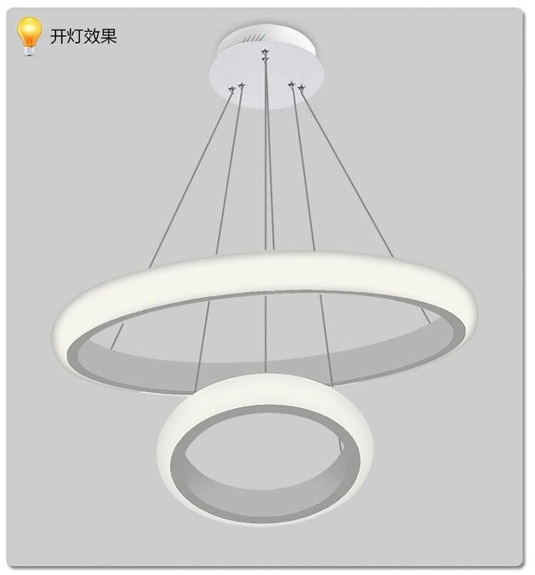 Circle Chandelier Light Lovable Led Modern Luxury Ring