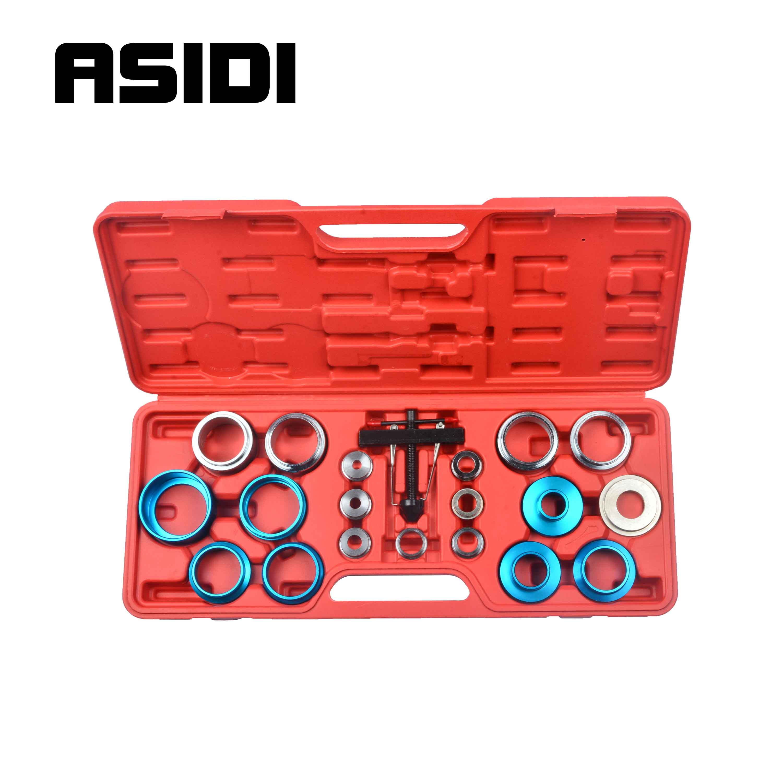 Kit d'outils de dissolvant de joint d'huile de manivelle 21 joints universels de pc vilebrequin de 27mm-58mm
