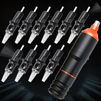 Pro Permanent Makeup Pen Machine With Ten Needles Kits Rotary Tattoo Machine Tattoo Supply PTM4307-10