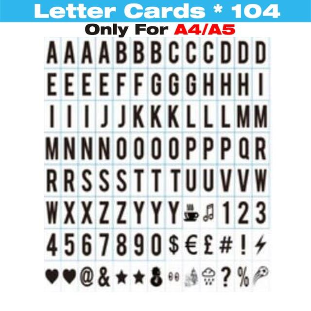 A4/A5/A6 Brief Kaarten] kleuren Lightbox Cinema Lichtbak Brief ...